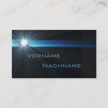 led supernova business card