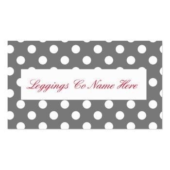 Small Leggings Sales, Leopard Print Business Card Back View