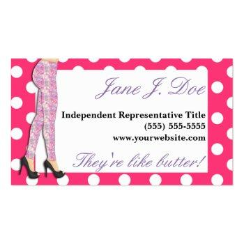Small Leggings Sales, Pink And Purple Business Card Front View