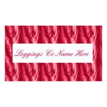 Small Leggings Sales, Pink Feathers Business Card Back View