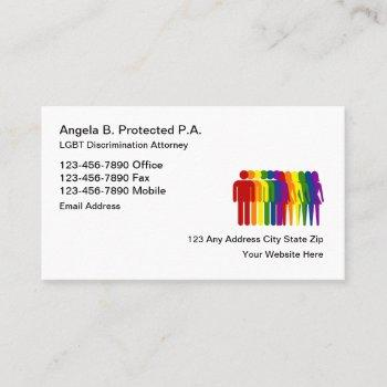 lgbt discrimination attorney business card