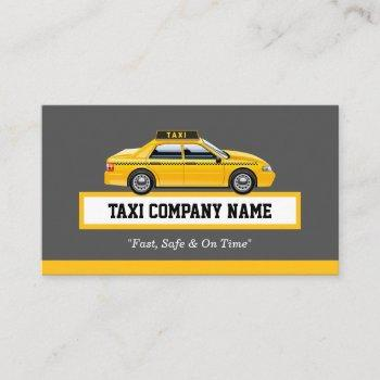 licensed cap driver chauffeur - yellow taxi business card