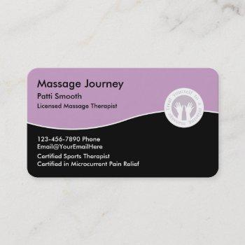 licensed massage therapist business card