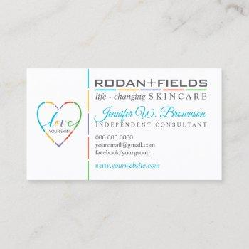 life changing skincare teal business card