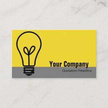 light bulb business card