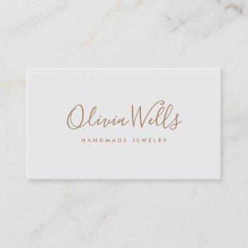 light gray handwritten script social media icon business card