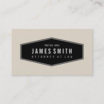 light grayish orange retro elegant attorney business card
