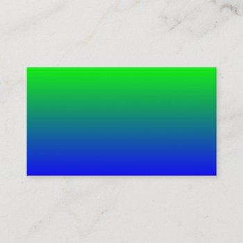 lime green to blue gradient business card