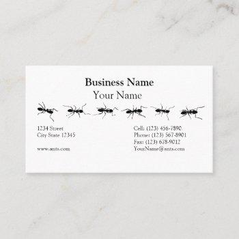 line of ants business card