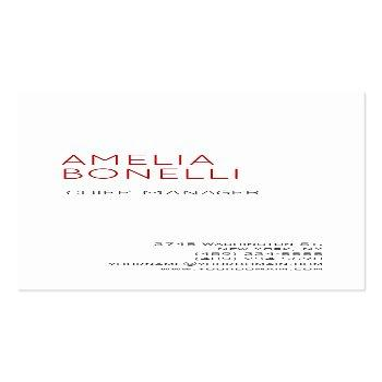 Small Linen Modern Minimalist Professional Plain White Business Card Front View