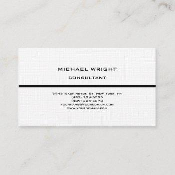 linen modern plain simple attractive minimalist business card