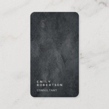 linen simple plain gray trendy modern minimalist business card