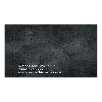 Small Linen Simple Plain Gray Trendy Modern Minimalist Business Card Back View
