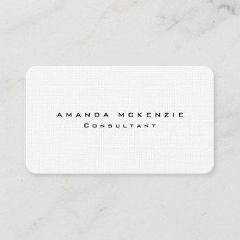 linen trendy unique creative minimalist design business card