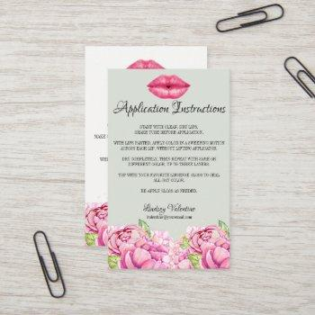 lips how to apply and tips and tricks business card