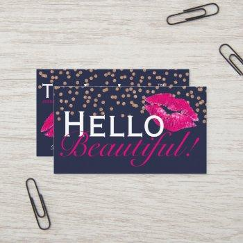 lips / lipsense / mua / kiss business cards
