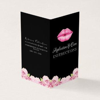 lipsense application instructions booklet business card