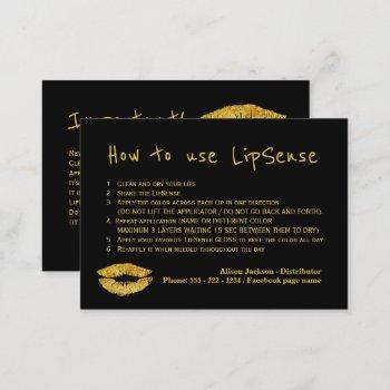 lipstick distributor glam application instructions business card