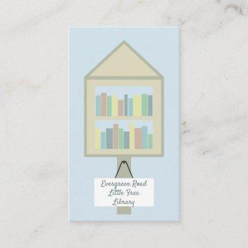little free library custom business cards