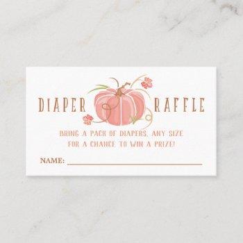 little pumpkin diaper raffle ticket - girl