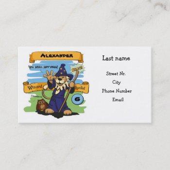 little wizard business card