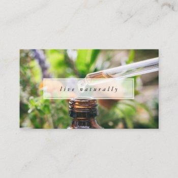 live naturally essential oils business card