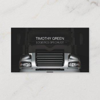 logistics transportation services truck grill business card
