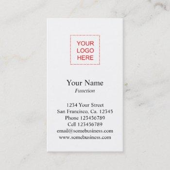 logo business card template | vertical layout