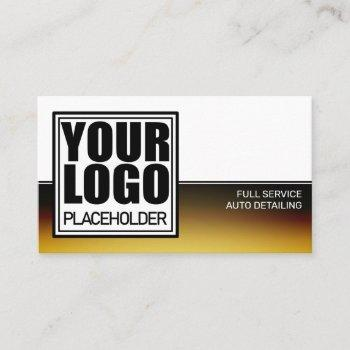 logo template golden chrome business card