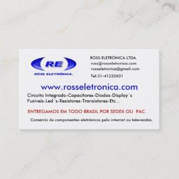 logofixozazzle, www.rosseletronica.com, rÓss el… business card