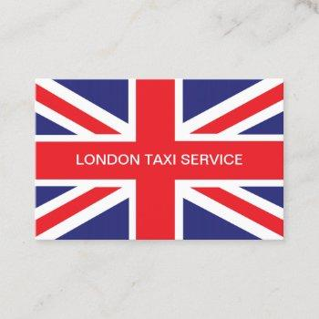 london uk taxi service business card