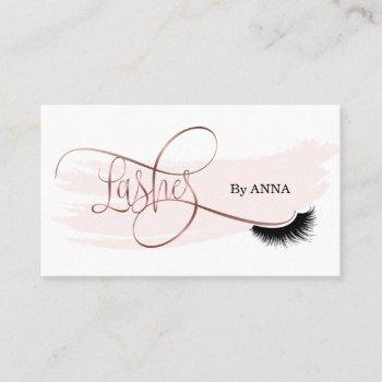 long lash extension makeup artist beauty salon business card