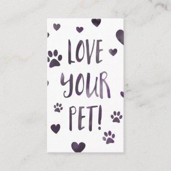 love your pet stamp card bokeh