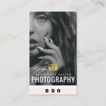 lovely text modern photographer business card