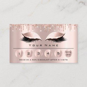 loyaliy 6 makeup esthetician eyelash rose drips business card
