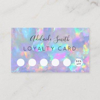 loyalty card opal gemstone