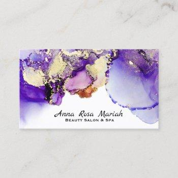*~* lucious abstract lavender gold gilded bold business card