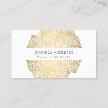 luxe wood effect art cosmetologist business card