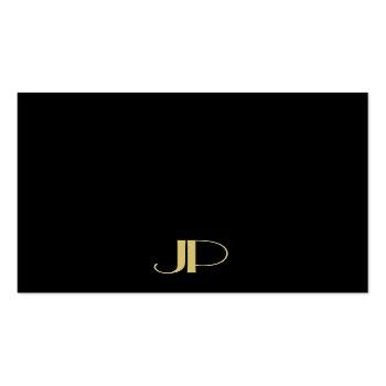 Small Luxurious Modern Elegant Gold Monogram Template Square Business Card Front View