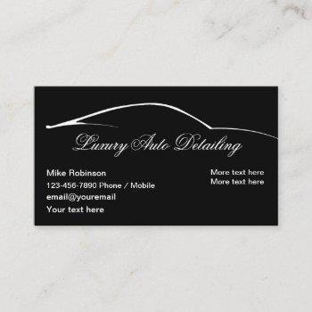 luxury auto detailing simple business card