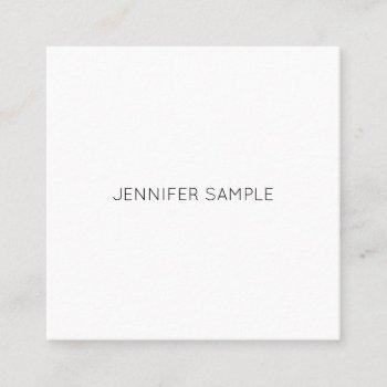 luxury creative modern minimalist design plain square business card