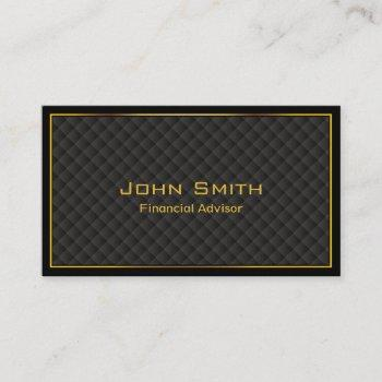 luxury gold border financial advisor business card