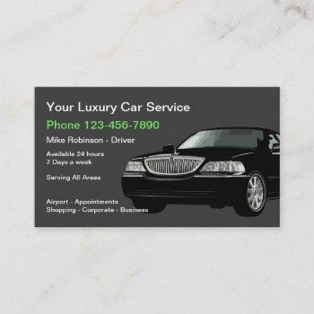 luxury public transport taxi car service business card