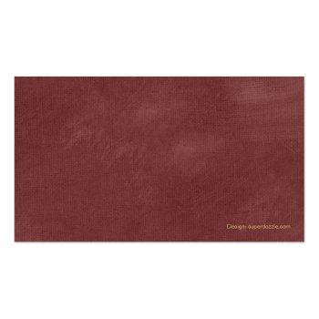 Small Luxury Red Lawyer Scales Of Justice Gold Effect Business Card Back View