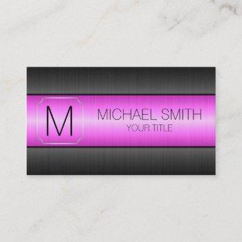 luxury stainless steel metal monogram #2 business card