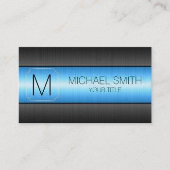 luxury stainless steel metal monogram #3 business card