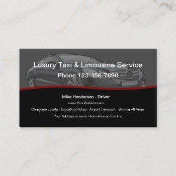 luxury taxi limousine car service business card
