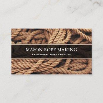 macro photo of rope - rope craft - business card