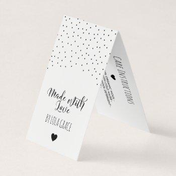 made with love delicate dots hang tag