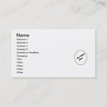 make your personalized business card